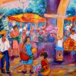 Au marché de Bonifacio - Huile