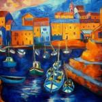 Barque à Centuri - Huile