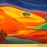 Dans la vallée du Taravo - Huile