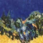 Le jaune et le bleu - Huile