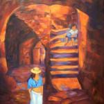 L'enfant au ballon de Sant' Antonio - Huile
